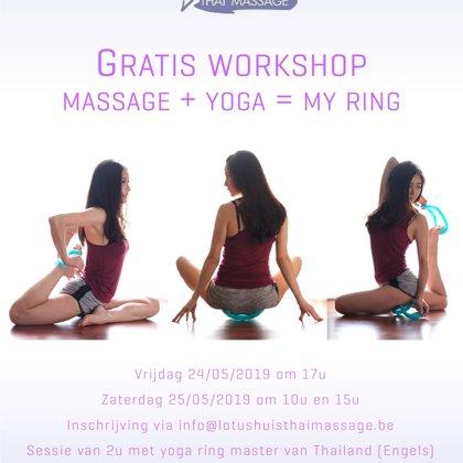 Workshop 'My Ring Yoga' + essential oils